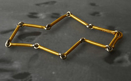 24ct Gold and platinum bracelet